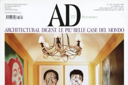 Sguardi dall'est: un appartamento a Milano su AD Italia 2007