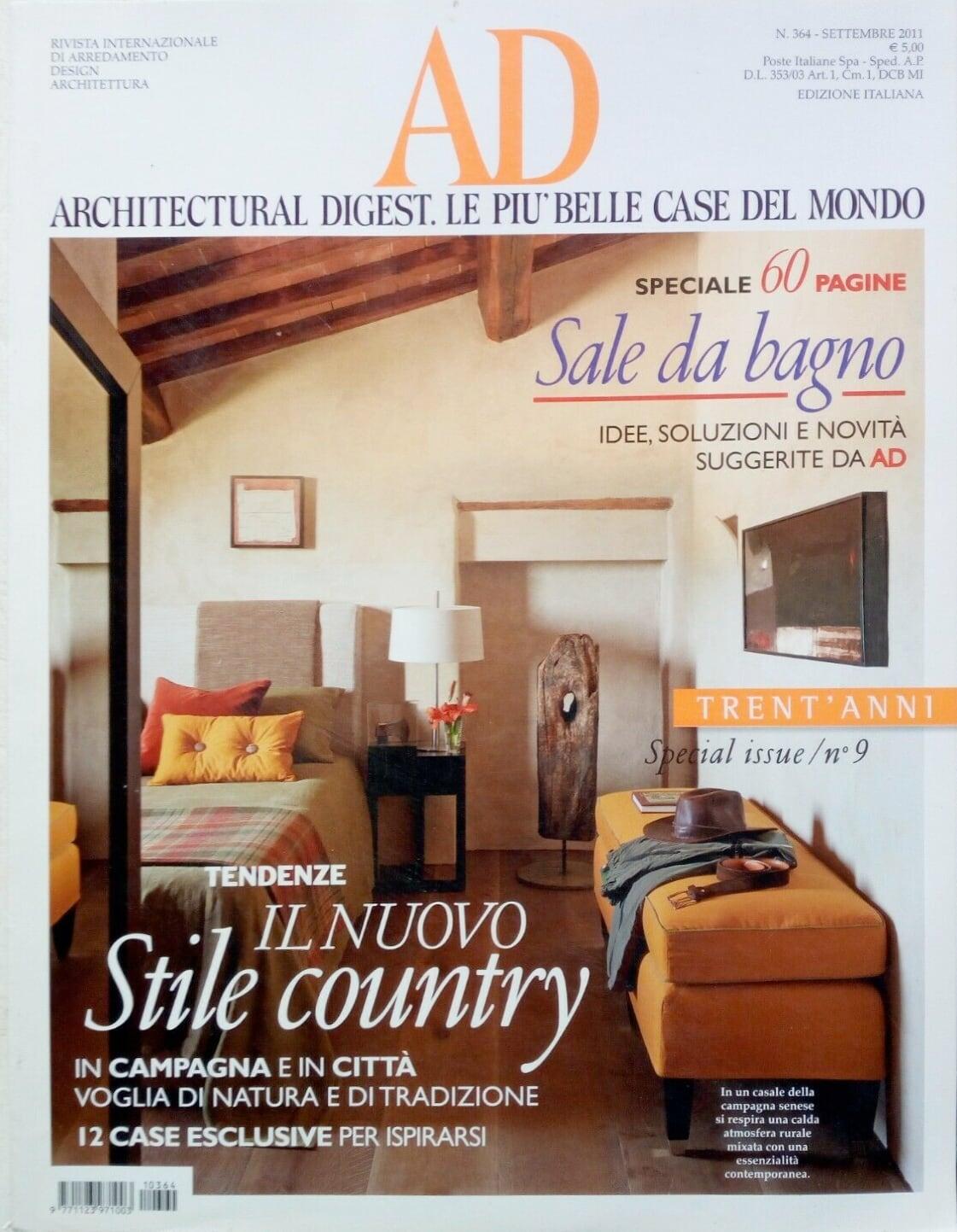 Copertina AD Italia settembre 2011