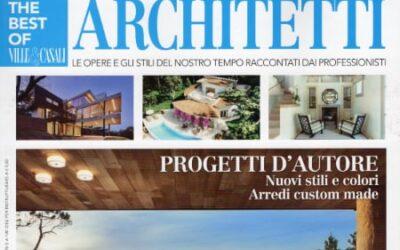 Copertina e servizio Studio Cecilia Olivieri sullo speciale Architetti di Ville & Casali 2021